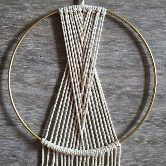 None Other - Macrame Geometric Wall Decor Hanging Hoop